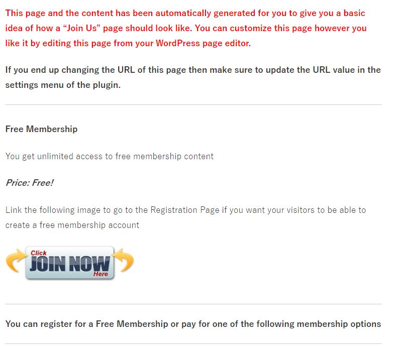Simple Membership会員登録ページ