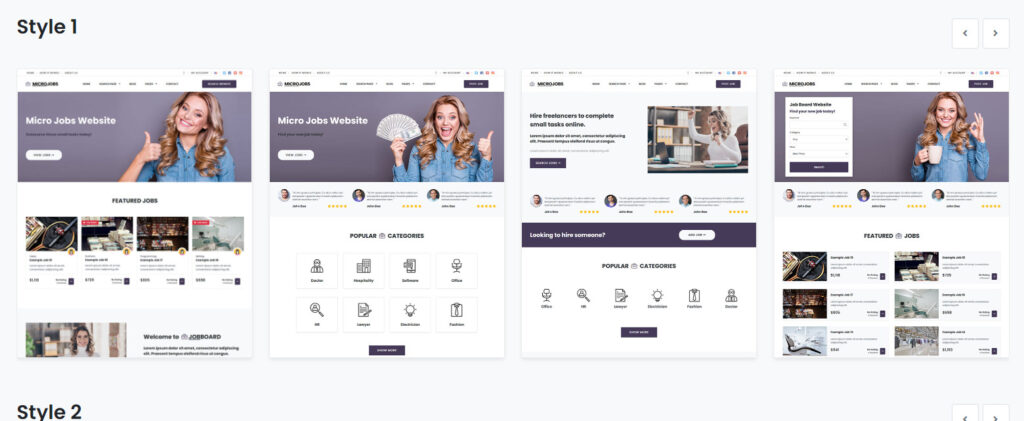 WordPress で マtチングサイト 構築デザインサンプル