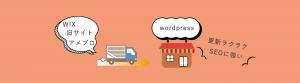 wixからwordpressへ移行、サーバー引越